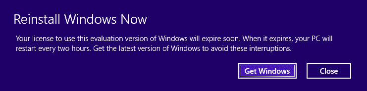 Windows 8.1 Preview Expiry Problems