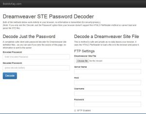 Dreamweaver Password Decryper STE