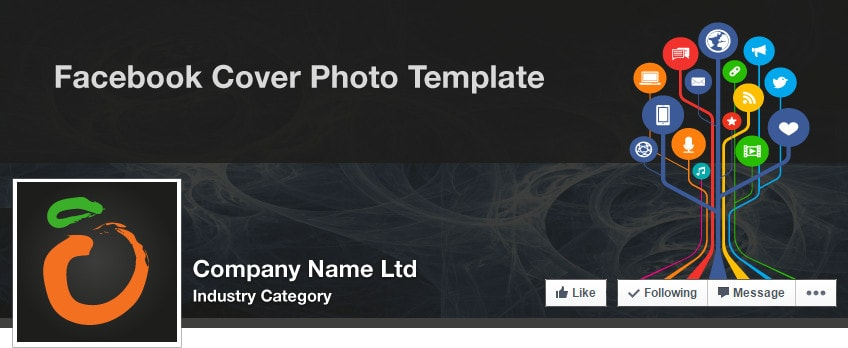 Facebook Company Cover Illustrator Template (May 2015)