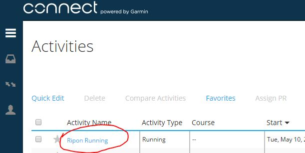 Edit Garmin Activity 2