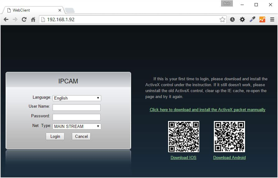 IP-Camera-Web-Admin-in-Chrome