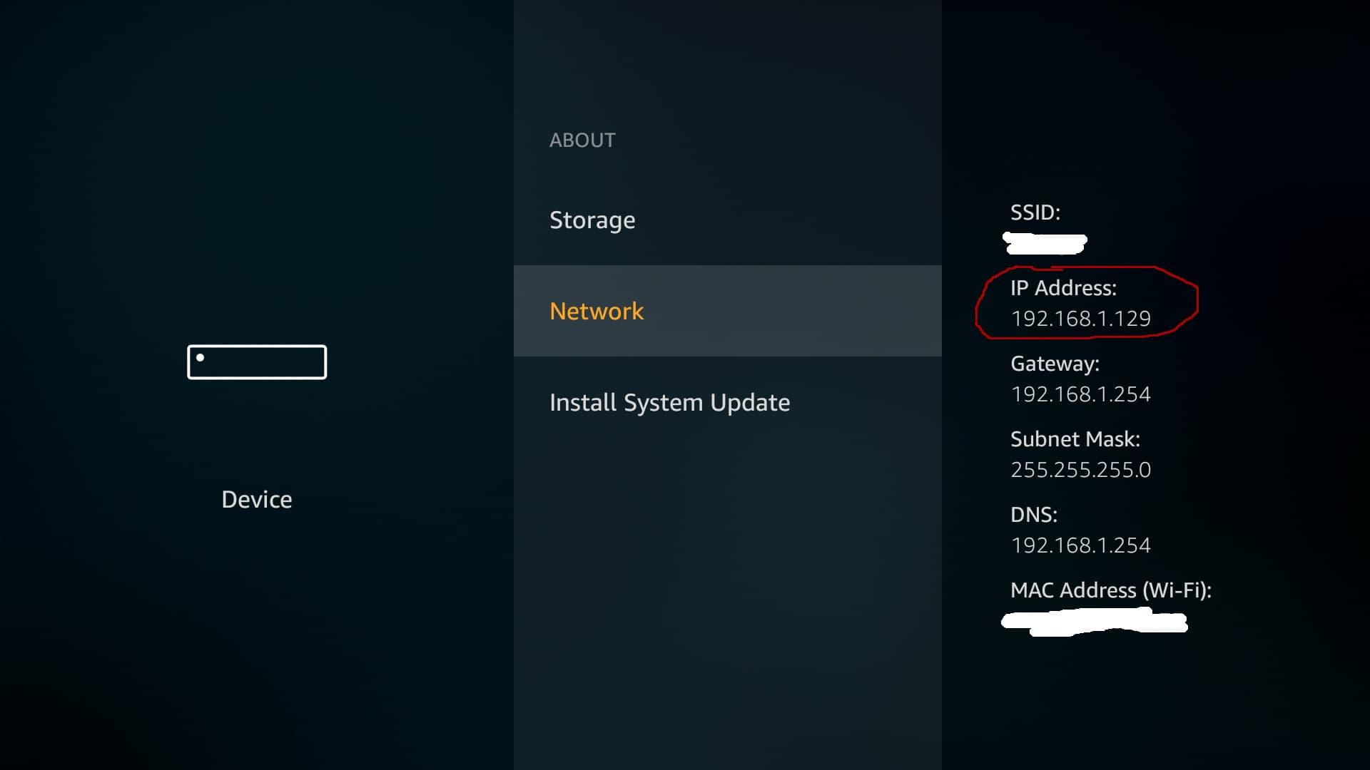 On the settings menu select device
